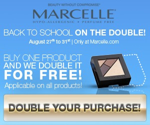 Sales Event 5 days ONLY. Buy One Get One FREE ! on marcelle.com